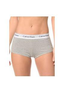 Calcinha Boyshort Modern Cotton Calvin Klein Cinza