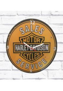 Relógio Parede Sala Decorativo Moto Vintage Pulso 30X30X2Cm