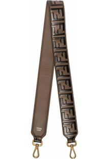 Fendi Brand Logo Shoulder Strap - Marrom