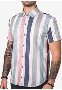 Camiseta Hermoso Compadre Listra Vertical Masculina - Masculino-Branco