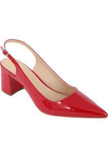 Sapato Chanel Envernizado - Vermelho - Salto: 6Cmluiza Barcelos