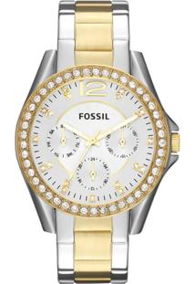 d4617b10355 Relógio Digital Dourado Fossil feminino