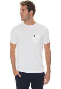 Camiseta Timberland Dunstan Rvr Pocket Masculina - Masculino-Branco
