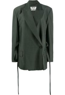 Acne Studios Double Breasted Tailored Jacket - Verde
