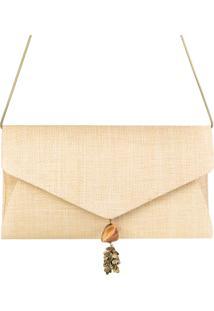 Clutch Palha Panamá Envelope Bege