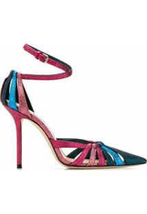 Jimmy Choo Scarpin Travis 100 - Rosa