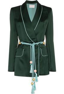Peter Pilotto Blazer Com Cinto - Verde