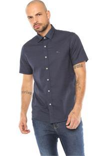 Camisa Krew Reta Mini Print Azul-Marinho