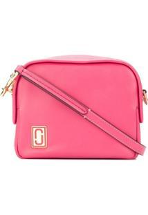 Marc Jacobs Bolsa Transversal Mini 'Squeeze' De Couro - Pink