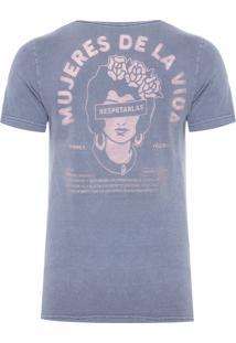 Camiseta Masculina Mujeres De La Vida - Cinza