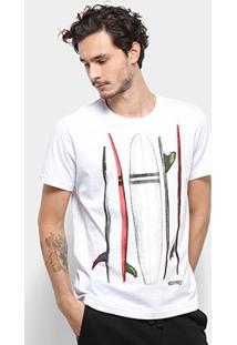 Camiseta Stanley Surf Live Masculina - Masculino-Branco