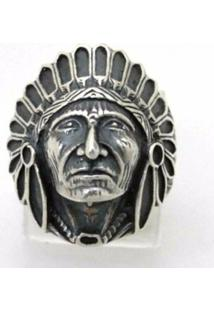 Anel Indio Apache Florenzza Em Prata 950 Unissex - Unissex-Prata