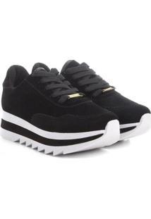 Tênis Vizzano Sneaker Bufalo Flatform Feminino - Feminino-Preto