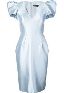 Rubin Singer Vestido Com Ombros Estruturados - Azul