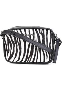 Bolsa Anacapri Mini Bag Animal Print - Feminino-Preto+Branco