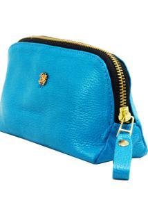 Necessaire Balaia Easy Em Couro Azul