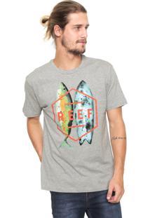 Camiseta Reef Fusion Tee Cinza