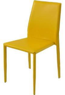 Cadeira Amanda 6606 Em Metal Pvc Amarela - 26666 - Sun House