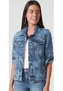 Jaqueta Azul Escuro Slim Jeans Sustentável