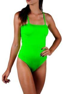 Body Neon Com Bojo Verão Total - Feminino-Verde