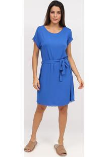 Camisola Camivest Com Renda- Azul Escuro- Easyweareasywear