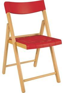 Cadeira Dobrável Tramontina Potenza 13792080 Vermelha