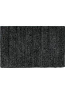 Tapete Para Banheiro Indiano Curacau 45X70Cm Cores Rozac Cinza Escuro - Multicolorido - Dafiti