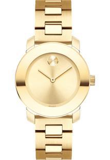 82d3f0ef5bb ... Relógio Movado Feminino Aço Dourado -3600434