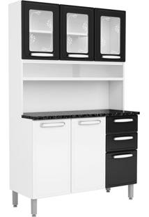 Cozinha Compacta Cecil Ii 6 Pt 2 Gv Branca E Preta