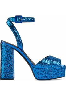 Giuseppe Zanotti Sandália Plataforma Com Brilho - Azul