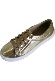Tenis Scarpe Casual Ouro