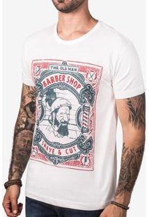 Camiseta Hermoso Compadre The Old Man Barber Masculina - Masculino-Branco