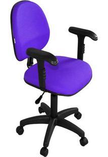 Cadeira Secretária Executiva Ergonomica Roxo