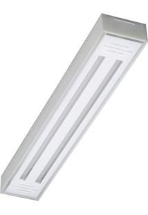 Luminária Em Alumínio Para 2 Lâmpadas Valência Led Tube 65X10Cm