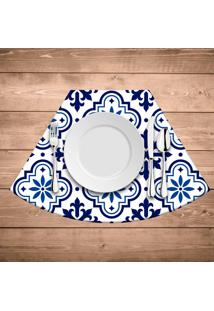 Jogo Americano Para Mesa Redonda Wevans Blue