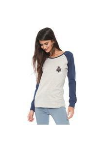 Camiseta Rusty Rose Cinza/Azul