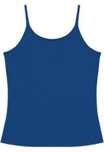 Regata De Alça Lisa Rovitex Premium Feminina - Feminino-Azul