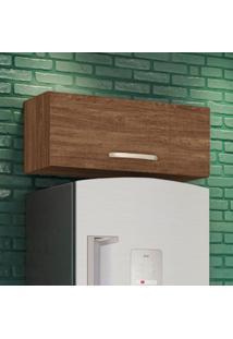 Armário Aéreo Cozinha 80 Cm Loá 1 Porta Basculante Évora Rústico - Nicioli