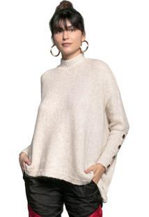 Blusa Feminina Biamar Oversized Malharia Bege Claro - U