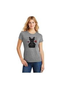 Camiseta Feminina T-Shirt Pets Bulldog Francês Guilty Of Love