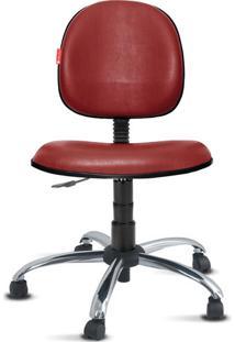 Cadeira Executiva Giratória Cromada Courvin Bordô