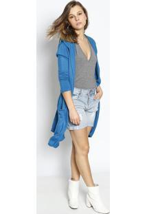 Bermuda Jeans Mother - Azul Clarole Lis Blanc
