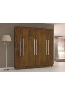 Guarda-Roupa 6 Portas Elegance Imbuia Rústico - Lc Móveis