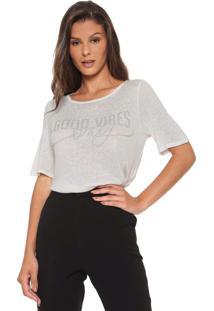 Camiseta Enna Aplicações Off-White