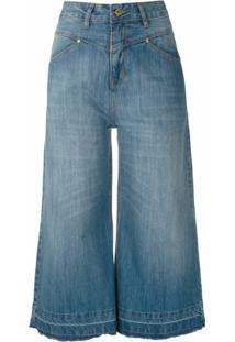 Amapô Calça Jeans Pantacourt Marion - Azul