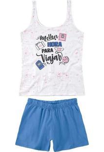 Pijama Malwee 1000073390 00001-Branco
