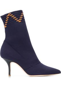 Malone Souliers Ankle Boot 'Mariah' De Couro - Azul
