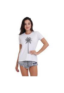 Camiseta Jay Jay Basica Coqueiro Branca Dtg