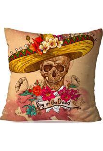 Capa De Almofada Avulsa Decorativa Day Of The Dead 45X45Cm