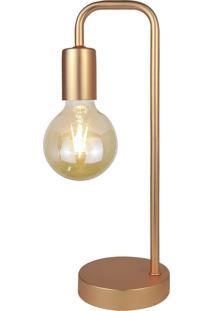 Abajur Fano, 38X12, Metal, Rosê Gold Única